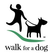 Walk for a Dog WoofTrax Logo